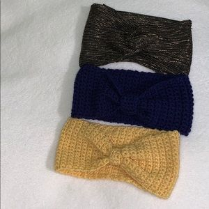 Lot of headbands 2 handmade knit one H&M
